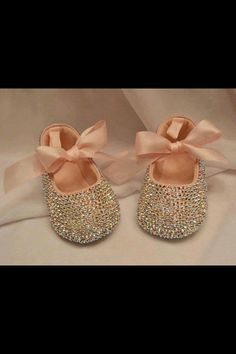 Lovely sparkly baby shoes