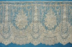 "My choice for best lace from the 8/10/2014 Ebay Alerts.  5 yards of ~12"" wide Point de Gaze, an extraordinary survivor.  I bought it."