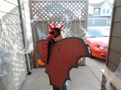 """""""Dragon"""" Entered in our Recycled Halloween Costume Contest by a parent from Dilley Elementary School Homemade Costumes For Kids, School Grades, Halloween Costume Contest, Elementary Schools, Make It Simple, Recycling, Dragon, Parenting, Outfit"""