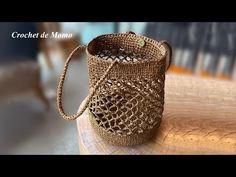 Crochet Circle Pattern, Crochet Bedspread Pattern, Crochet Circles, Crochet Patterns, Crochet Bag Tutorials, Diy Crochet, Hand Crochet, Knit Basket, Basket Bag