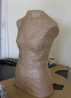 Make Your Own Dress Form! I love the idea to papier-mâché over it with book pages, fun designs, or pictures!