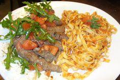 Tagliatta Sotto Filetto al Pomodoro e Rucula