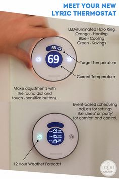 Smart thermostat for your house with event scheduling and a 12-hour weather forecast. Awesome! | #sponsored