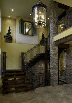 2008 Parade of Homes house - mediterranean - staircase - denver - Rick L Lawrence, AIA, NCARB