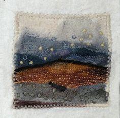 Untitled - Dry needle felting. Machine stitch. Hand stitched by Fi@84 - Fiona Rainford
