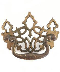 "Authentic Vintage Hollywood Regency midcentury 4 x brass Pulls Knobs Drawers 3""    eBay"