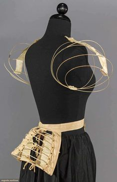 1890s wire sleeve supports (shown with 1880s wire bustle)