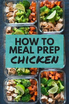 How To Meal Prep Chicken | How to meal prep chicken for the entire week, including an easy chicken breast recipe, all for under $5 per meal! Cook once and eat all week! | A Sweet Pea Chef via @laceybaier