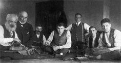 19th century tailors at work near Okehampton.  All are members of the MELHUISH family.  Source - www.devonheritage.org