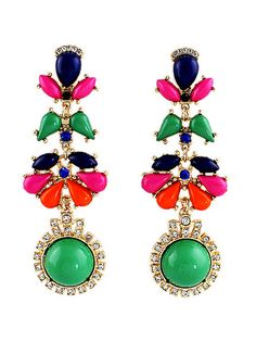 only 3,99$ #Multicolor #Drop #Gemstone #Gold #Bead #Earrings #Promo #Code #Obsessed #Sheinside 40% #ILoveParfum #New#Style #Products#Sale #items #dresses Click Here: http://www.sheinside.com/New-Style-Products-vc-412.html?aff_id=1417