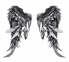 Wing tattoos~ it looks like Lysander's tattoo from the game my candy love