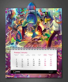 Corporate calendar by Yaroslav Dokuchaev, via Behance Card Sayings, Calendar Design, Digital Art, Advertising, Behance, Printing, Photoshop, Design Ideas, Space