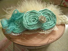 Vintage Inspired Headband in Aqua Blue Headband Breakfast at Tiffany's Vintage Inspired headband  in Tiffany blue   PHOTOGRAPHY PROP. $14.95, via Etsy.