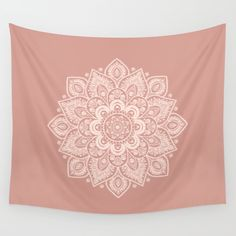 Flower Mandala in Peach and Powder Pink Wall Tapestry by Lena Photo Art. Worldwide shipping available at Society6.com. Just one of millions of high quality products available.