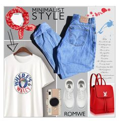 """ROMWE"" by salihovic-nihad ❤ liked on Polyvore featuring WithChic, Levi's, rag & bone, Kate Spade and Vans"