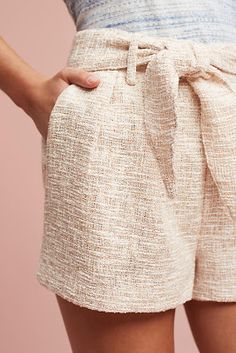 Line & Dot Tied Tweed Shorts - ShopStyle Summer Outfits, Casual Outfits, Tweed Shorts, Anthropologie Clothing, Spring Summer Fashion, What To Wear, Clothes For Women, My Style, Stylish
