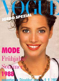 Christy Turlington: Vogue, Germany 1987