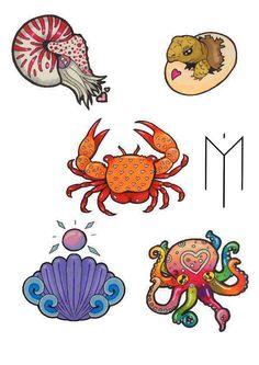 https://www.facebook.com/MougliIllustrations/    DO NOT COPY PLZ    Sea creatures neotraditional tattoo sketch