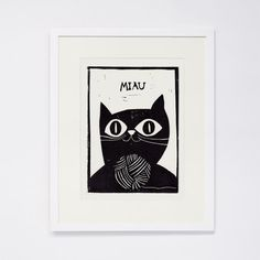This linocut print is one of 100. Numbered and signed by the artist.    Printed on a 100g Hahnemuehle Paper. The print itself is 18x24cm. The whole
