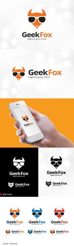Geek Fox Logo Template. Logo Templates. $23.00