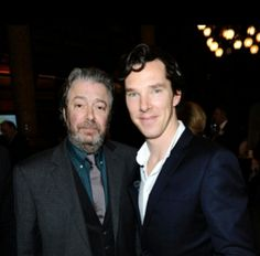 The lemon is in play.... Roger Allam & Benedict Cumberbatch at an event March 2013 #cabin pressure