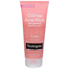 Neutrogena Oil-Free Acne Wash Pink Grapefruit Foaming Scrub ($8.54) ❤ liked on Polyvore featuring beauty products, makeup, beauty, fillers, accessories, facial cleansers and skin care