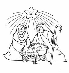 Free birth of jesus coloring pages Nativity Coloring Pages, Jesus Coloring Pages, Free Christmas Coloring Pages, Star Coloring Pages, Coloring Pages For Kids, Coloring Sheets, Colouring, Coloring Book, Christmas Nativity