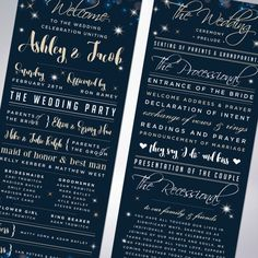 Wedding Programs New Year's Eve Wedding by TheDesignBrewery