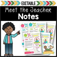 Editable meet the teacher letter template that's quick and easy to edit. Just type your own text in the boxes and print!