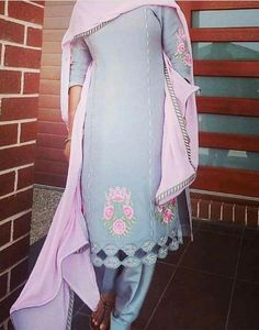Classic Indian salware suits Press VISIT link above for more options Women Salwar Suit, Punjabi Salwar Suits, Patiala, Club Outfits For Women, Suits For Women, Clothes For Women, Embroidery Suits Punjabi, Embroidery Suits Design, Embroidery Designs
