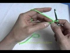 Learn how to crochet for beginners, #1.  She really explains everything very well & clearly.