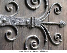 ornate large rod iron exterior door hinges Ornate Hinge Church