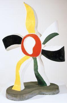 """Fernand Leger, sculpture, """"Dancing-Flowers."""""""