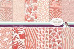 Natural Animal Pattern Digital Paper by Blixa 6 Studios on @creativemarket