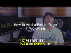 How to Add a Page or Post in WordPress - http://www.howtowordpresstrainingvideos.com/how-to-add-a-page-or-post-in-wordpress/