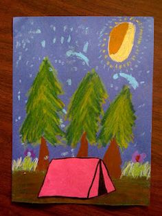 ARTventurous: Sleep Under the Stars: Camping Art (could tie in with starry night)