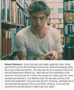 We can easily forgive him for playing Edward in Twilight when we read this and remember that he's actually Cedric!