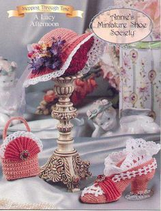 A Lacy Afternoon Annie/'s Miniature Shoe Society crochet pattern booklet NEW