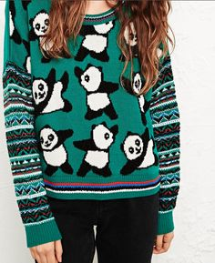 Panda Sweater | Community Post: 15 Pieces Of Panda Swag You Need To Get Immediately