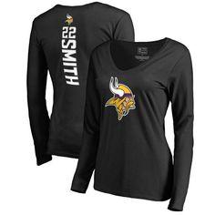 Harrison Smith Minnesota Vikings NFL Pro Line Women s Backer Name   Number  Long Sleeve T-Shirt - Black 3cd1aff69