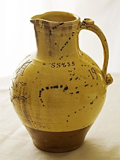 Slipware 'Water Lily' jug by William Marshall