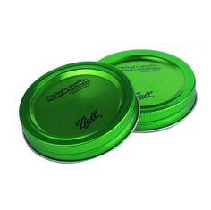 Deckel Ball Mason Glas grün