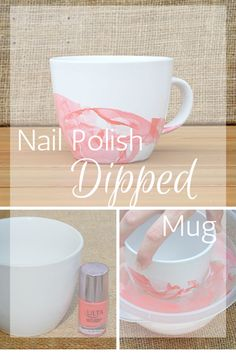Nail Polish Dipped Mug DIY by Chelsie Worley. Coffee addicts unite and drink your must have out of this cute, easy to make mug.