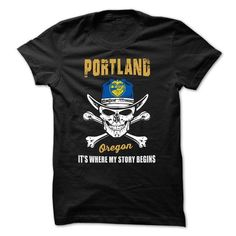 Portland - Oregon - Its Where My Story Begins ! - #gift girl #day gift. BUY TODAY AND SAVE => https://www.sunfrog.com/States/Portland--Oregon--Its-Where-My-Story-Begins-.html?68278