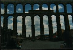 Segovia, Spain the aqueduct.  Built by the Romans.