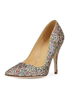 Kate Spade Licorice Too Glitter Point Toe Pump PumpsShoe BoutiqueDesigner ShoesWedding