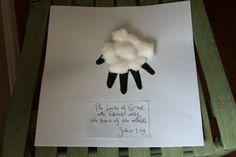 Lamb of God handprint craft