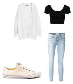 """""""Untitled #139"""" by vlhuerta ❤ liked on Polyvore featuring Violeta by Mango, Frame Denim and Converse"""