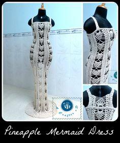 Crochet Pineapple Mermaid Dress