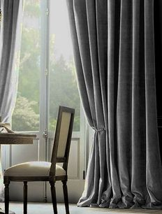 Vintage Velvet Drapery traditional-curtains from restoration hardware Hanging Curtains, Drapes Curtains, Drapery Panels, Blackout Curtains, Thick Curtains, Small Curtains, Bedroom Drapes, Luxury Curtains, Double Curtains